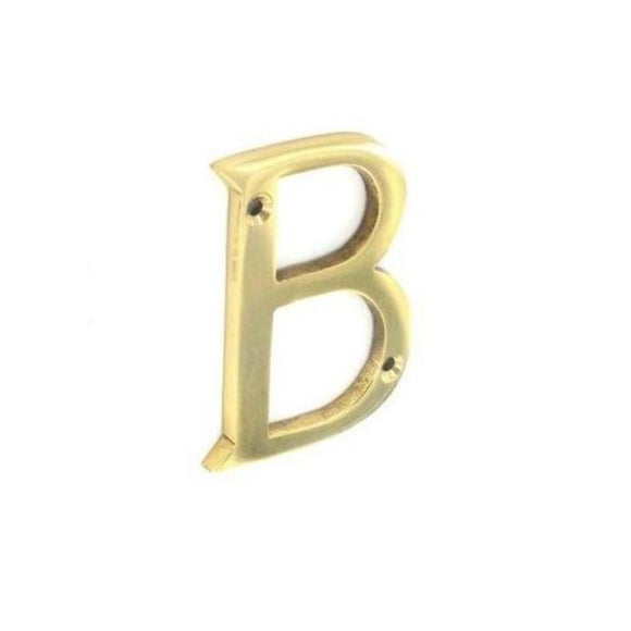 Letter 'B' 75mm Brass/Chrome