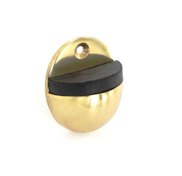 Oval Door Stop 50mm Brass/Chrome