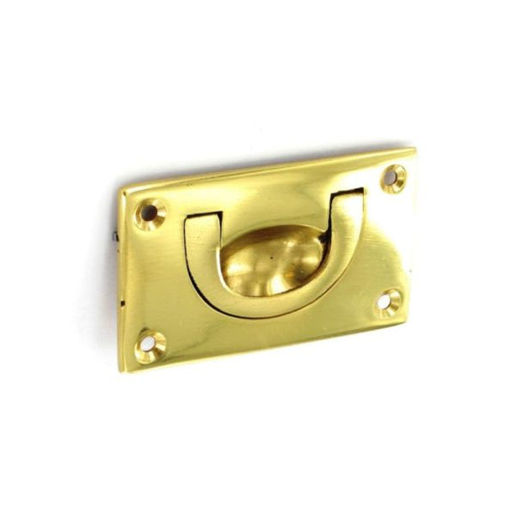 Brass Flush Drop Handle 70mm