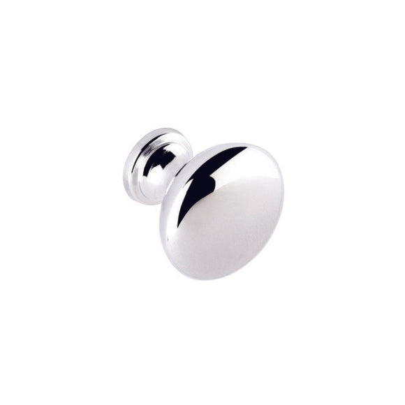 Round Knob Chrome - (Click for Range)