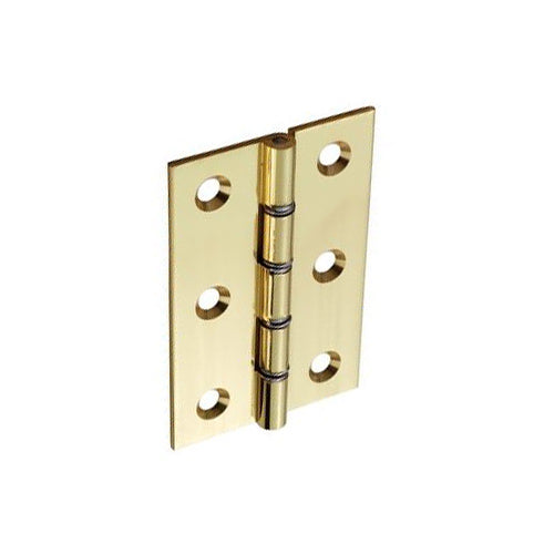 Brass Hinges Double Steel Washered Polished - (Click for Range)