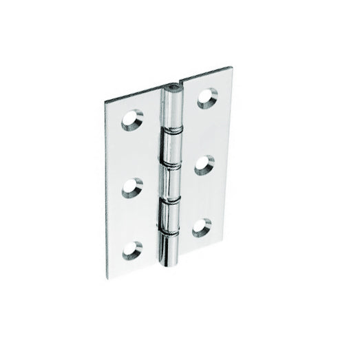 Chrome Brass Hinges Double Steel Washered