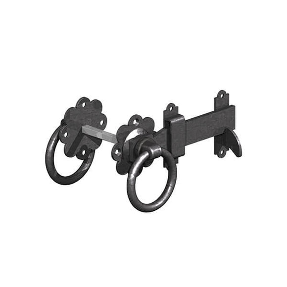 Ring Gate Latch Black 6