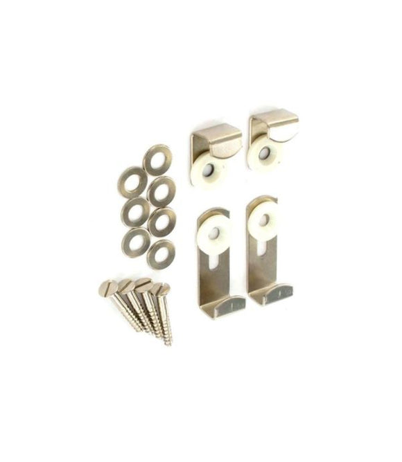 Mirror Brackets Adjust. Nickel Plated Set Of 4