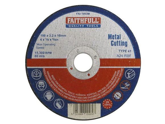 Metal Cutting Disc - (Click for Range)