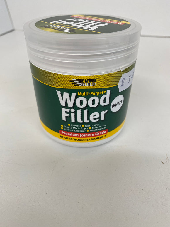 Wood Filler Tub 250ml - (Click for Full Range)