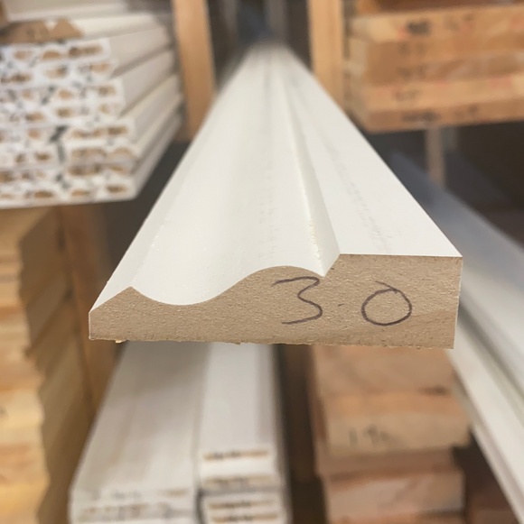 MDF White Primed Architrave 18m x 68m - (Click for Range)