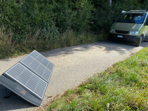 Mobile Flexopower Solarpanele vs. fix montierte Solarpanele