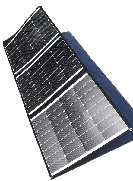 COMBO MOJAVE 150W FOLDABLE SOLAR PANEL & LITHIUM444 POWER PACK BY FLEXOPOWER - FLEXOPOWER ZA