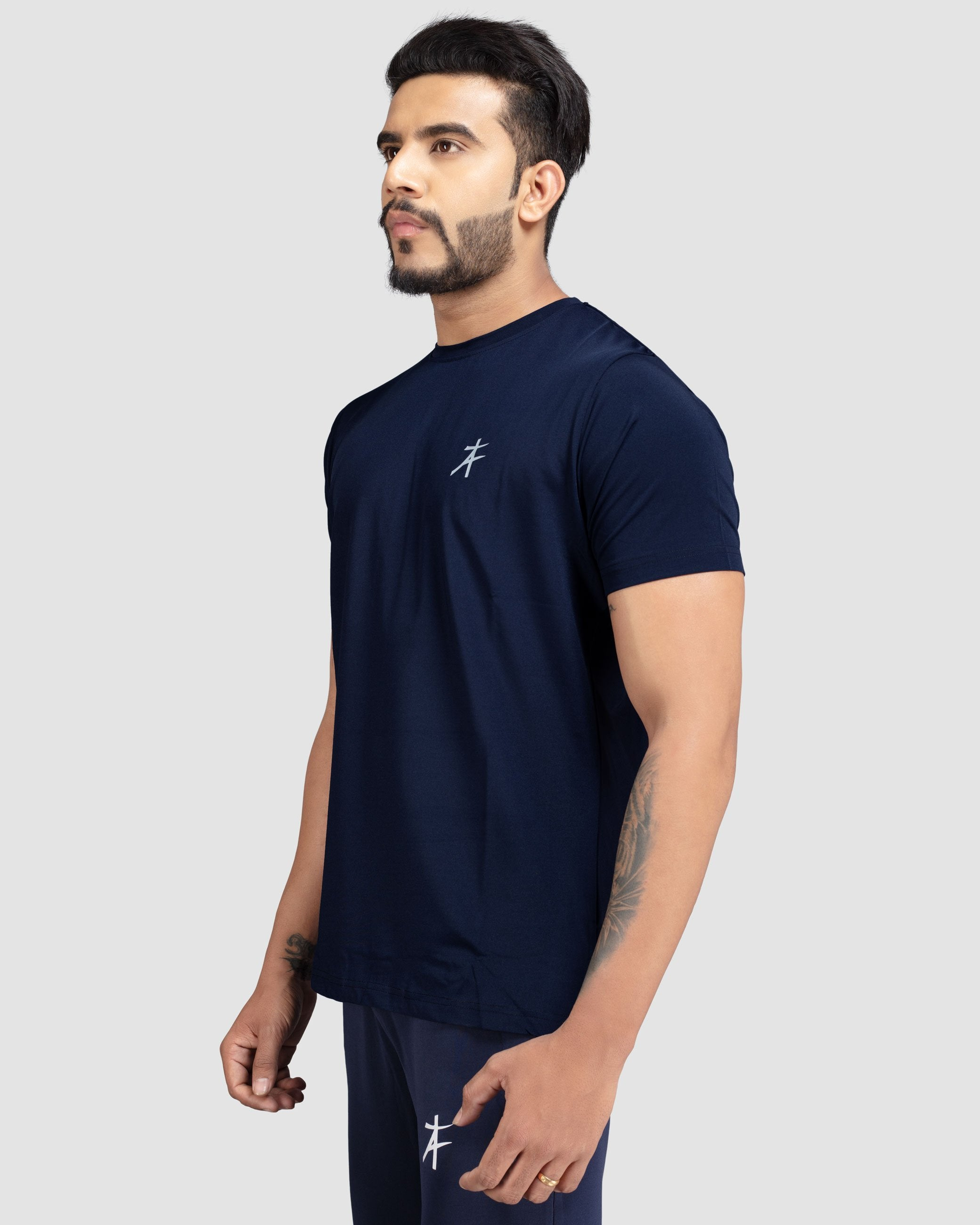 Flex Fit Swick T-Shirt(Navy Blue) Athflex