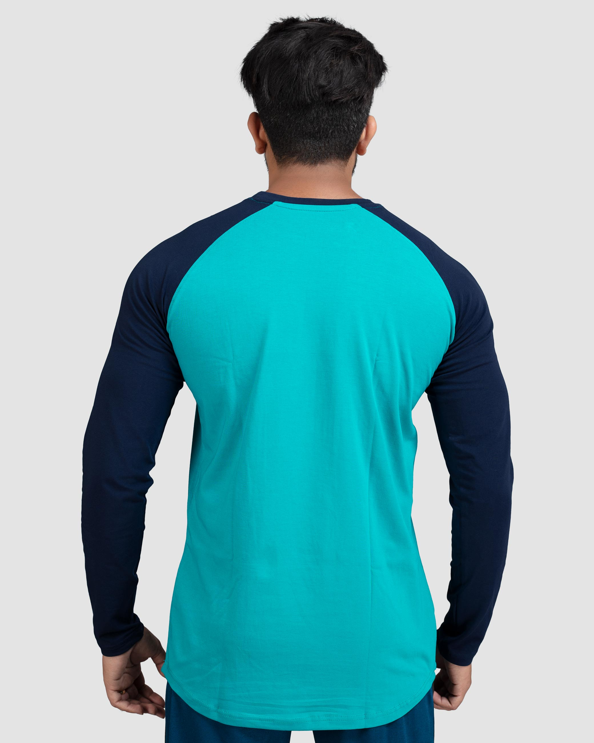 Flex Inspire diverse raglan sleeves(Turquoise with Navy Blue sleeve) Athflex