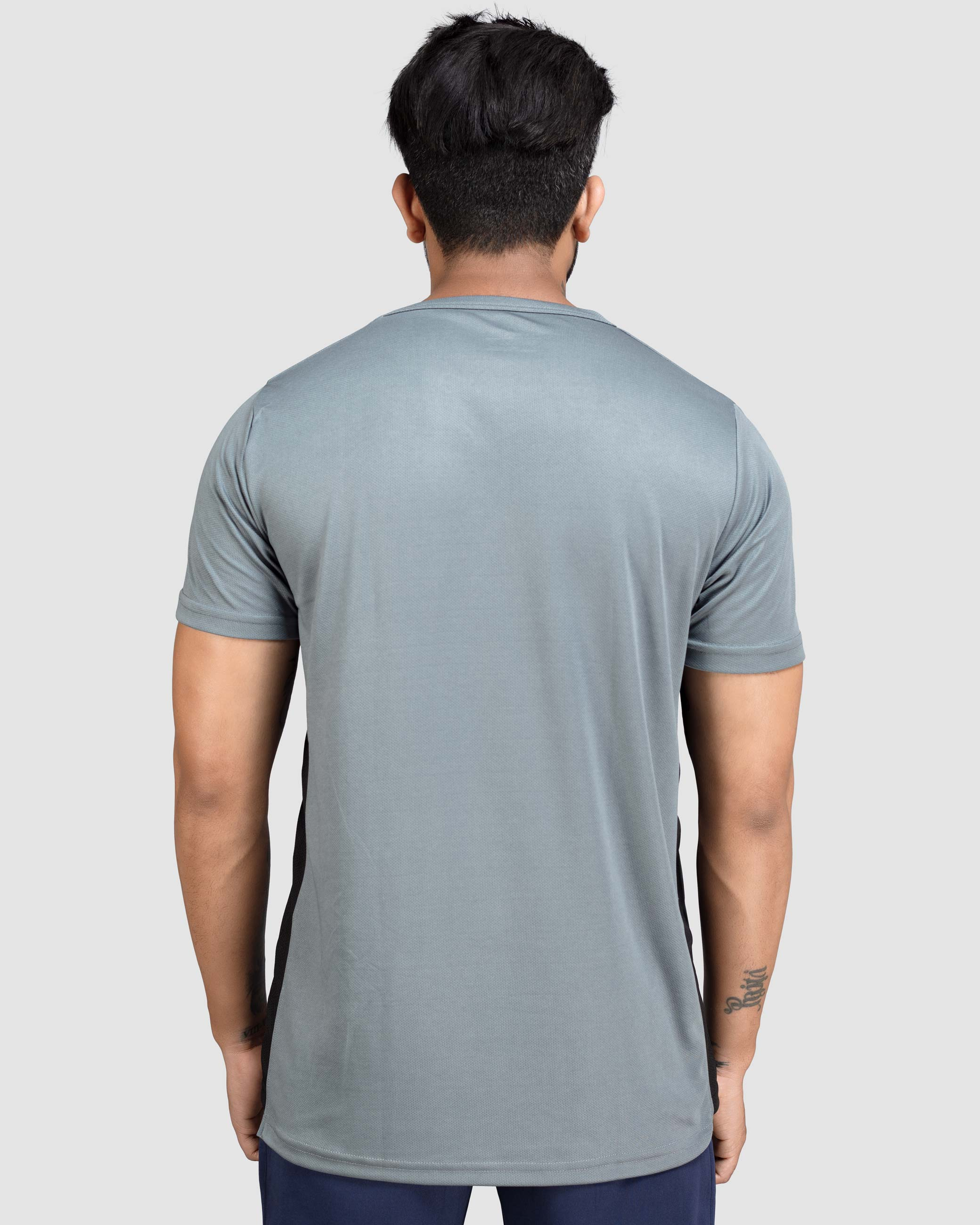 Flex Inspire side strip crew neckline t-shirt(Steel Gray) Athflex