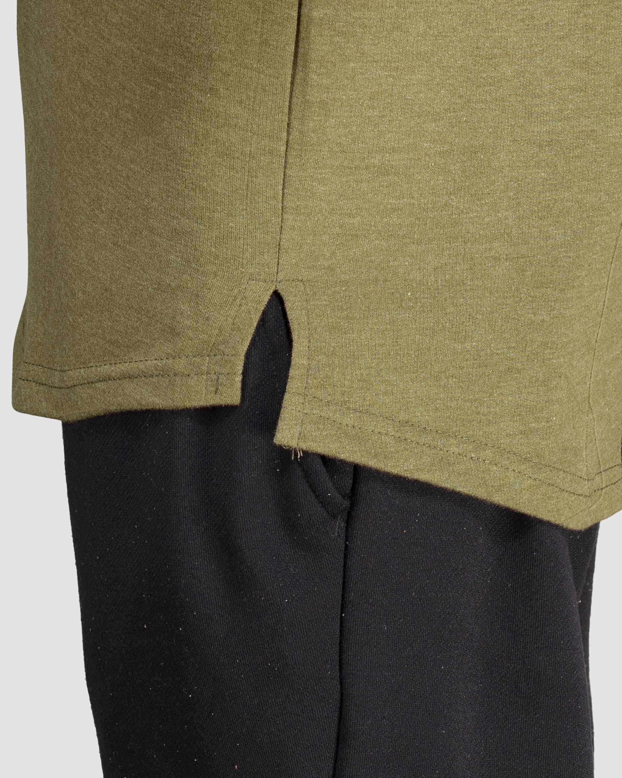 Flex Leisure Longline t-shirt(Army Green) Athflex