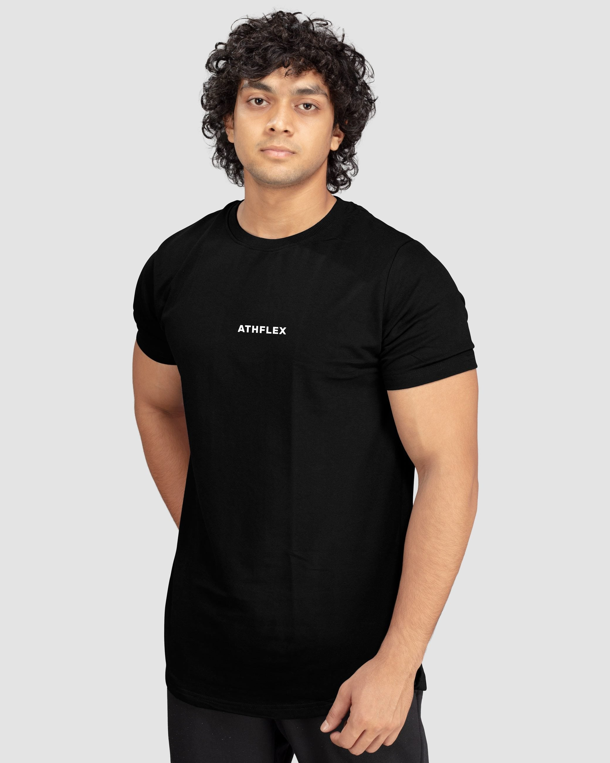 Flex Leisure Longline t-shirt(Black) Athflex