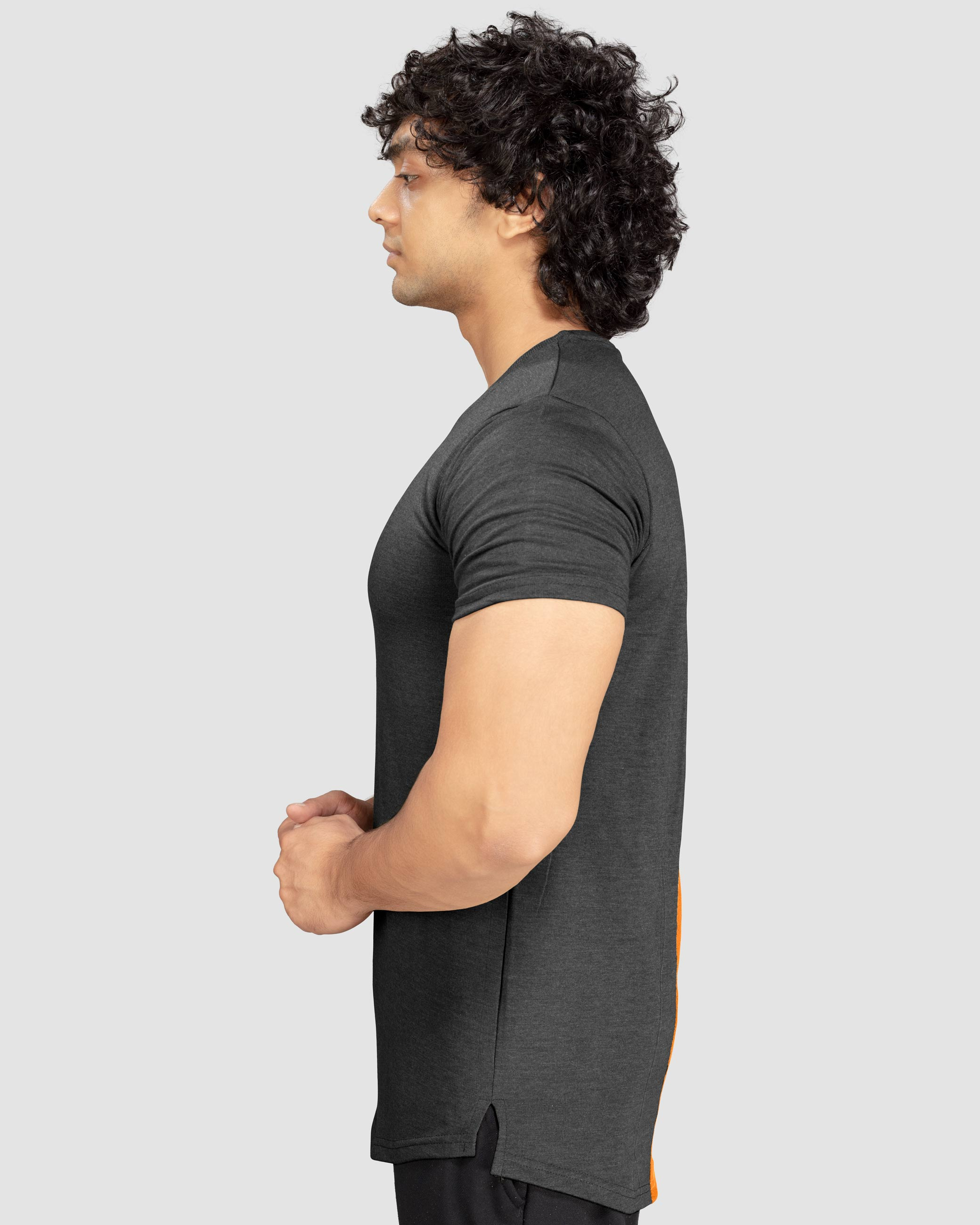 Flex Leisure Longline t-shirt(Dark Grey) Athflex