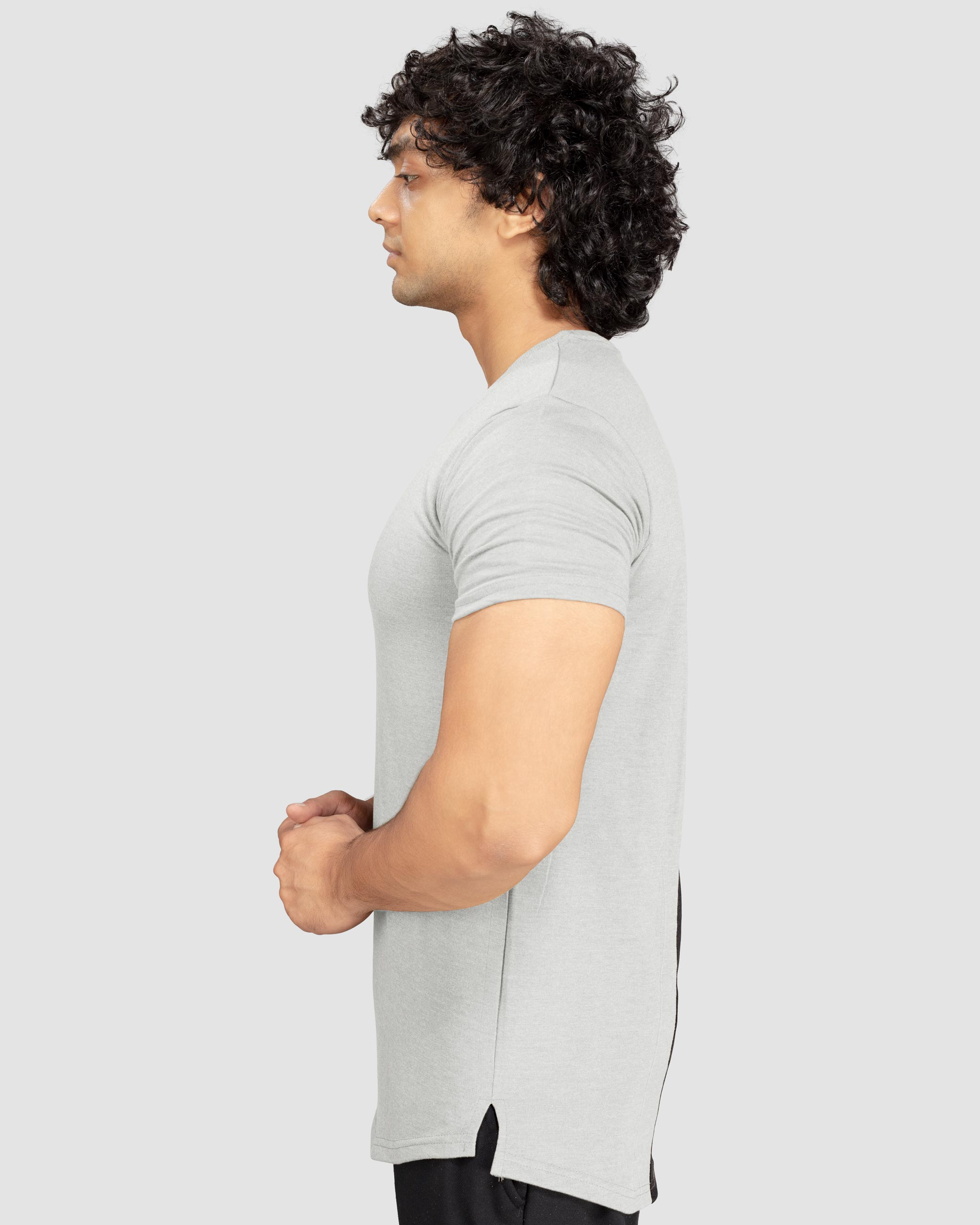 Flex Leisure Longline t-shirt(Light Grey) Athflex