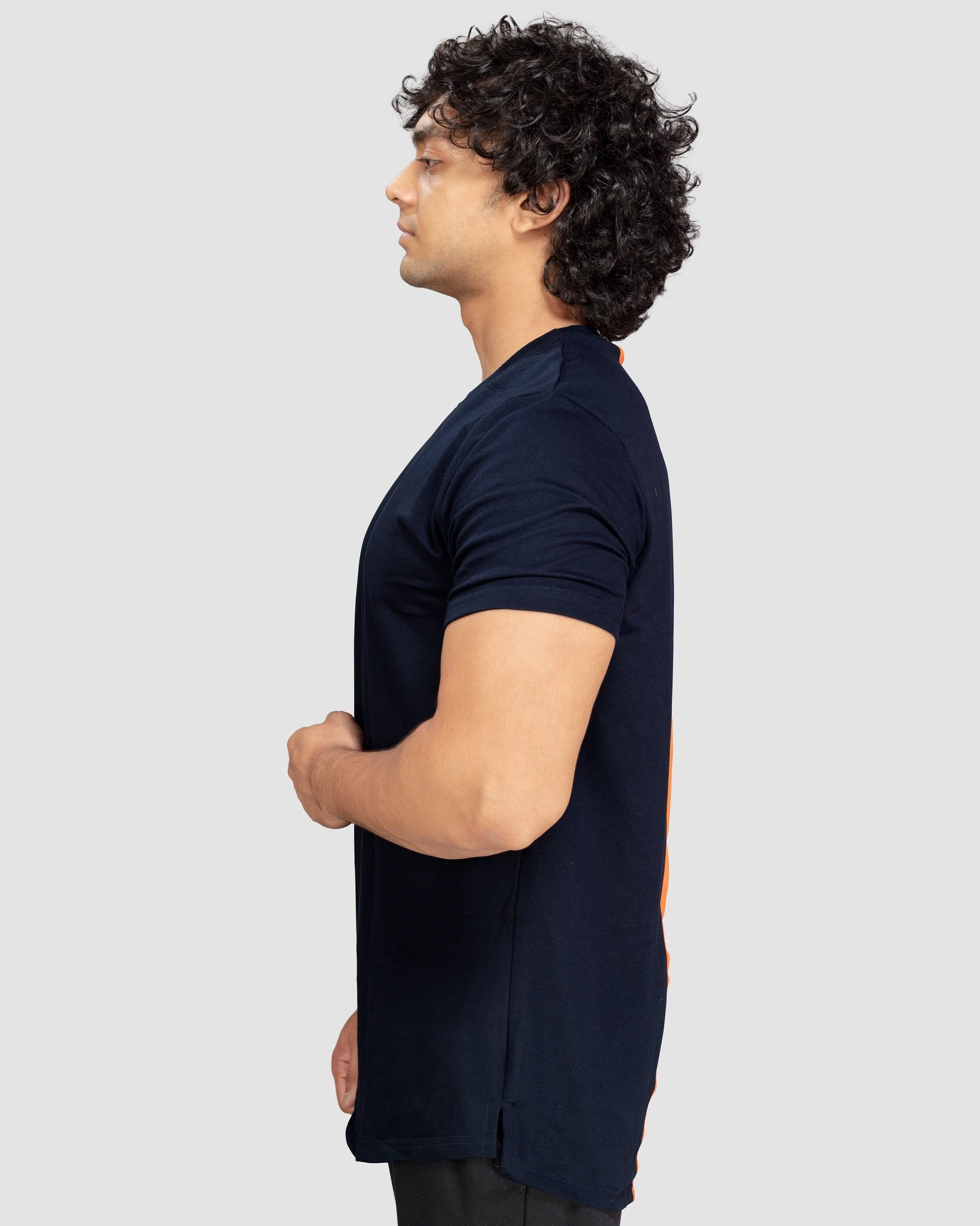 Flex Leisure Longline t-shirt(Navy Blue) Athflex
