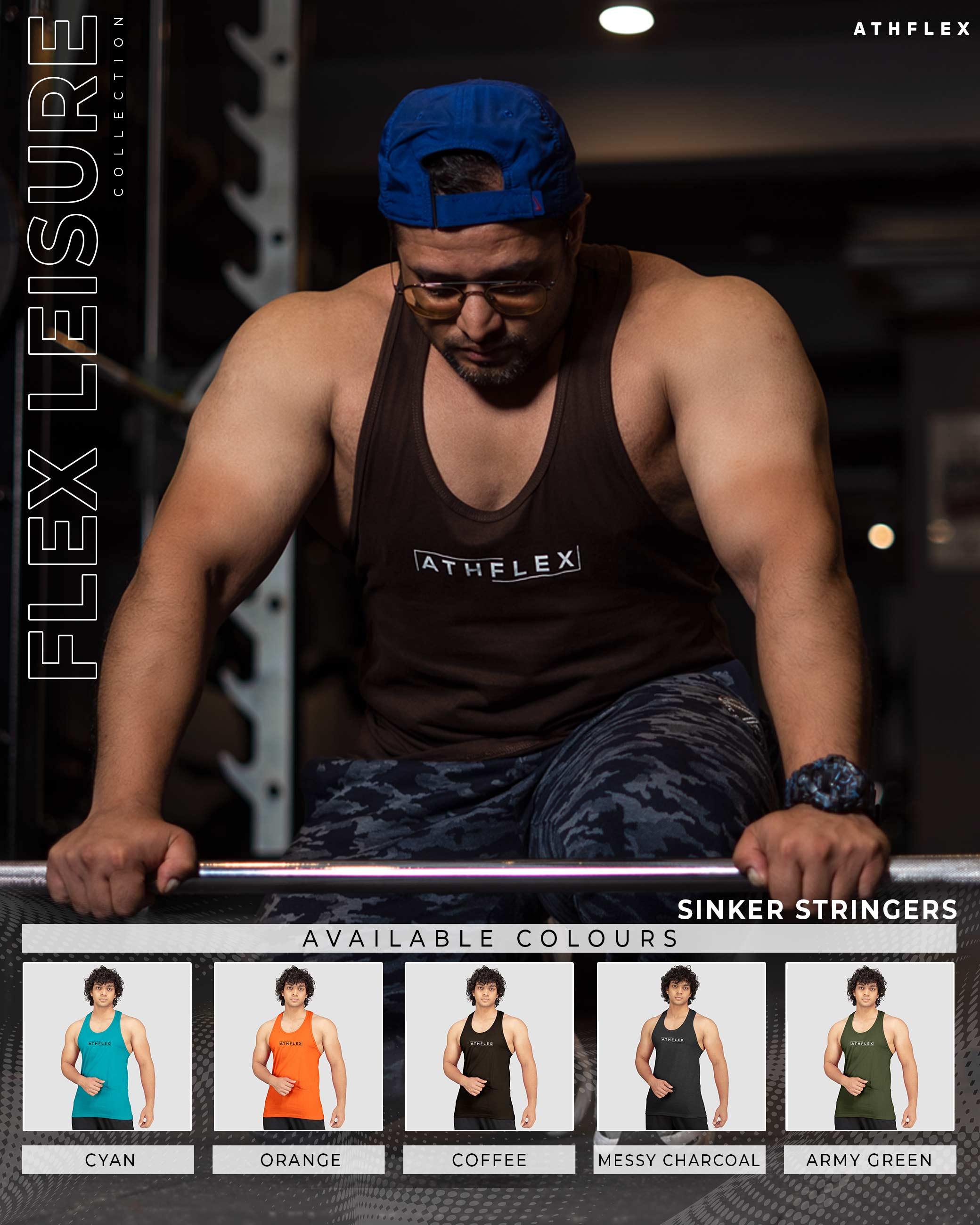 Flex Leisure Sinker Stringers(Melange Red) Athflex