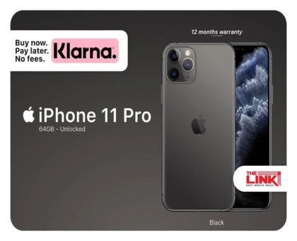Apple, iPhone 11 Pro, 64GB, Unlocked to any Network, 12 Months Warranty - The Link Oldham