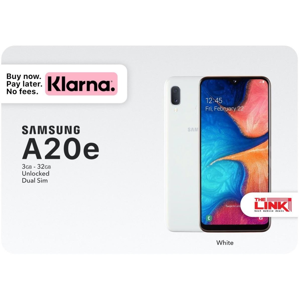 Brand New Samsung A20e, Dual Sim, 32GB, Unlocked - The Link Oldham