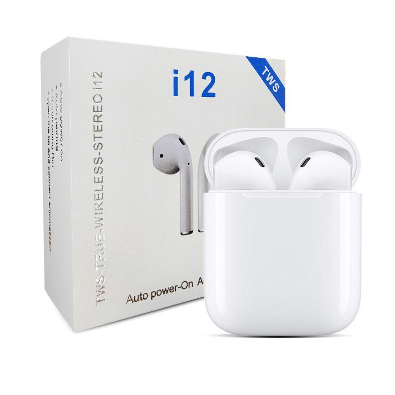 TWS i12 wireless headphones for Apple Devices, Amazing Sound - The Link Oldham