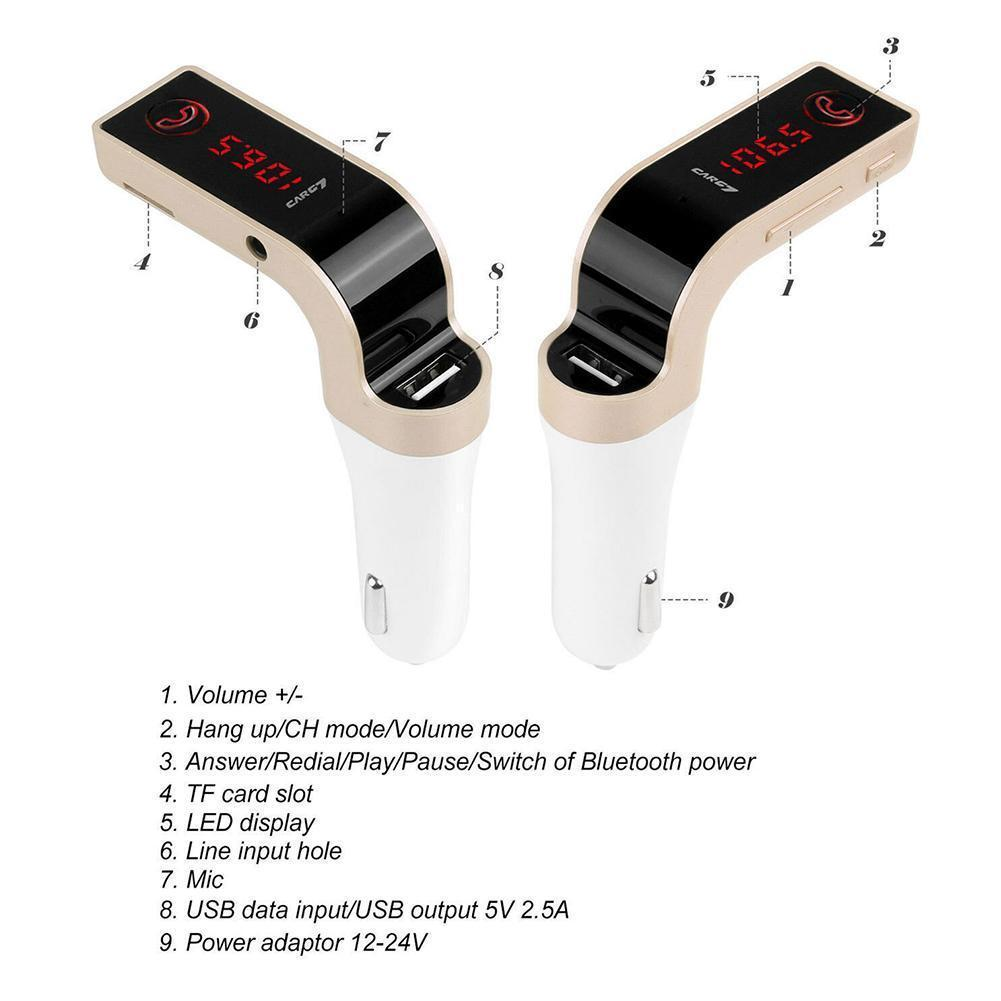 Wireless Bluetooth FM Transmitter Car Accessories - The Link Oldham