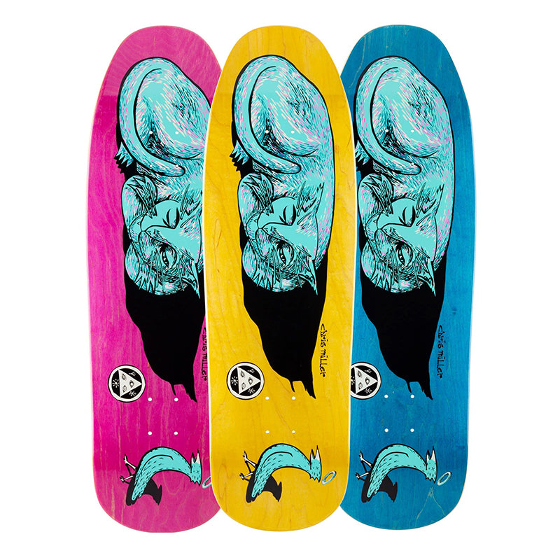 "Welcome Skateboards Chris Miller Sleeping Cat on Gaia 9.6"" Deck"