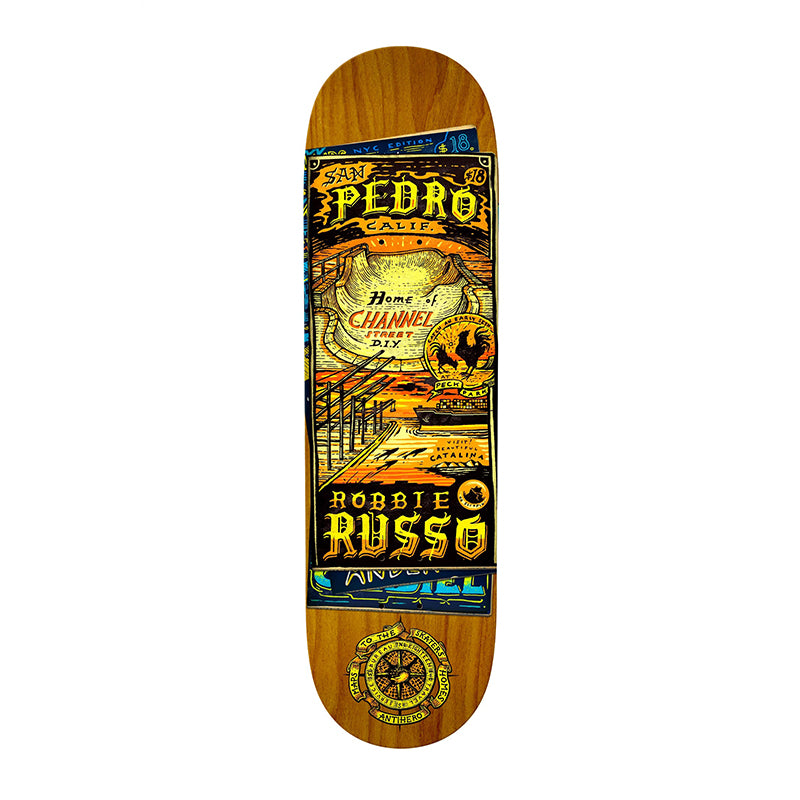 "Anti-Hero Skateboards Robbie Russo Maps/Homes 8.25"" Deck"