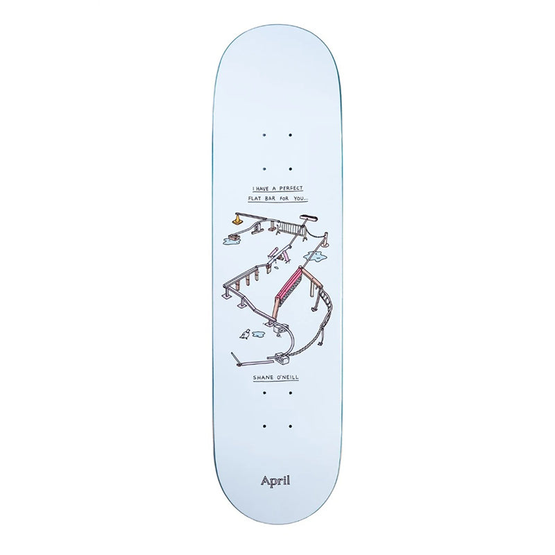 "April Skateboards ""Shane O'Neill Perfect Flatbar"" 8.125"" Deck"