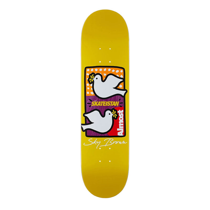 "Almost Sky Brown Skateistan Double Doves 8"" Deck"