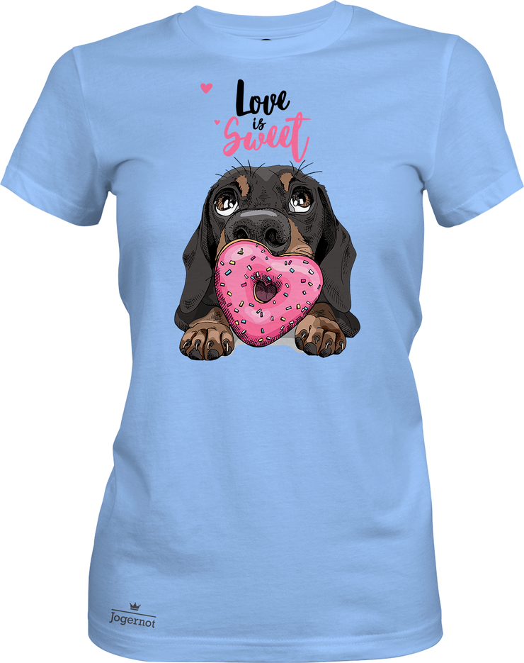 Cute dog - Love is sweet- tee