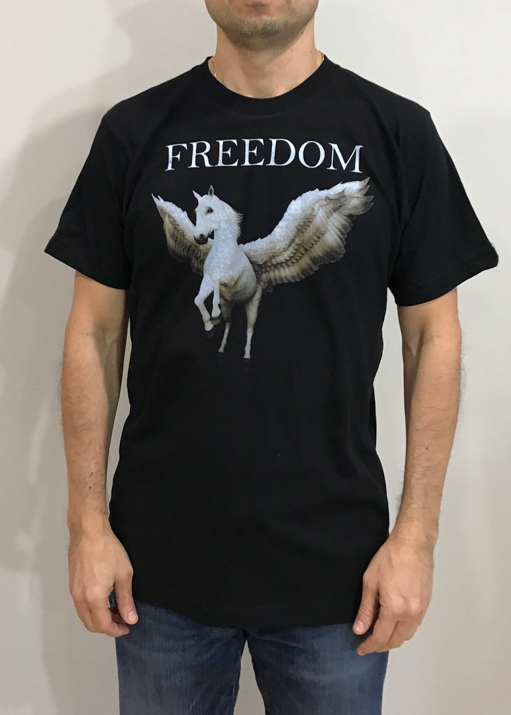 Pegasus Freedom mythological - Short sleeve t-shirt