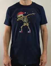 Dancing skeleton Christmas party t-shirt