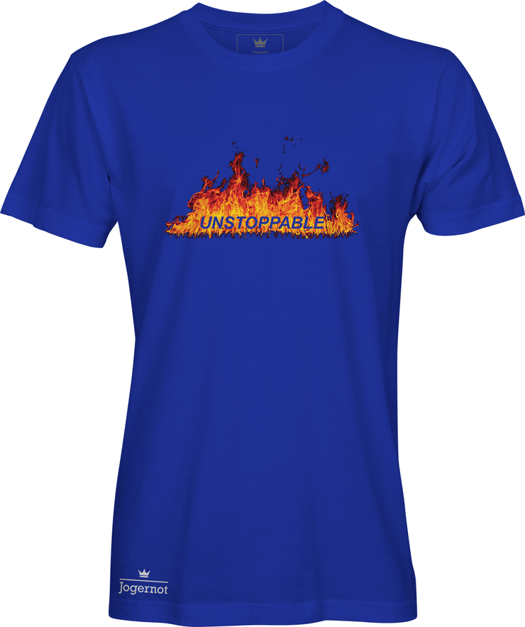 Unstoppable - Jogernot logo on fire - Short sleeve t-shirt
