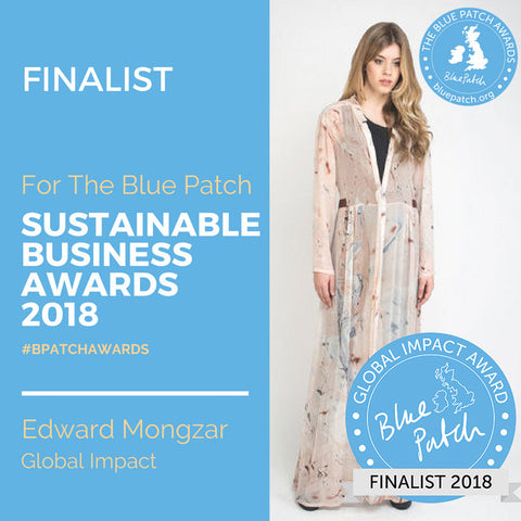 Edward Mongzar Blue Patch Sustainable Business Awards Press Ethical London Independent Designer