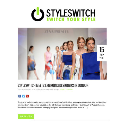 Edward Mongzar Style Switch Blog Blogger Press Ethical Sustainable London Independent Designer