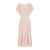 Hand Dyed Silk Velvet Cut Out Dress - Beige