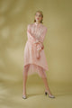 Marbled Silk Button Up Dress - Pink