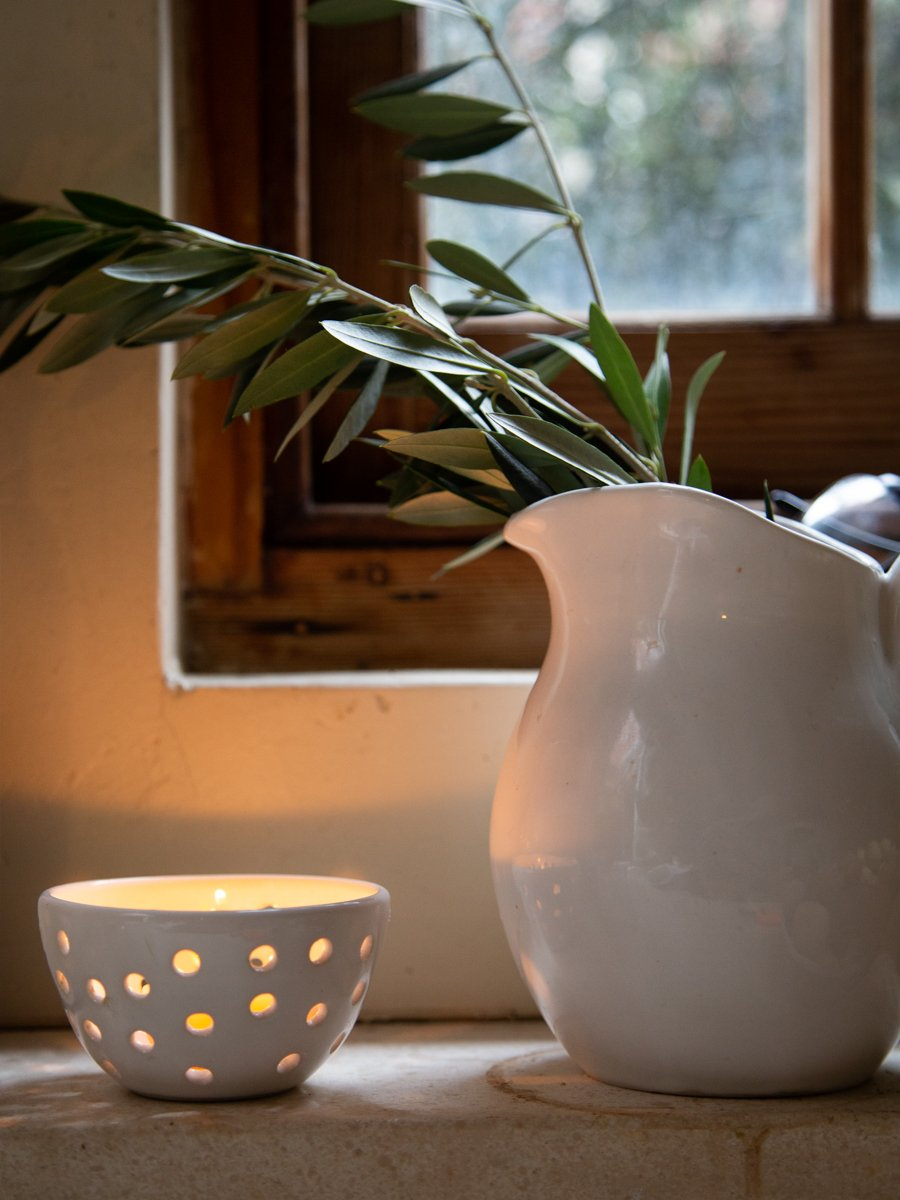 Ceramic tealight bowl