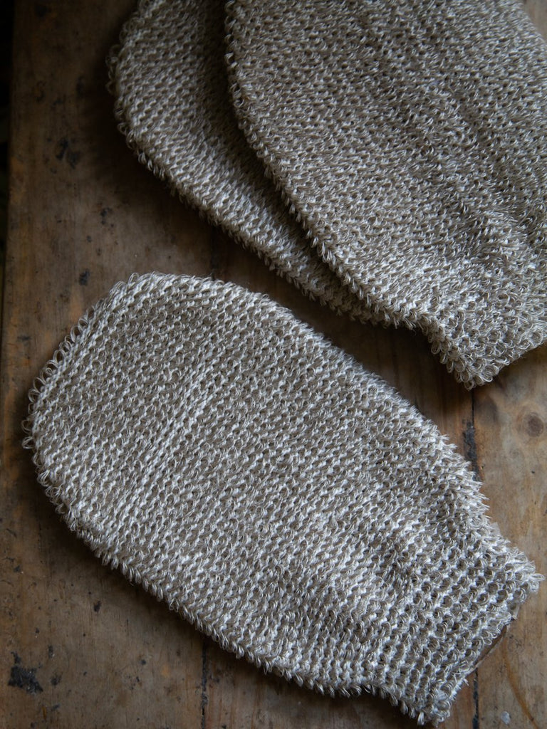 Organic Linen and Cotton Massage Glove