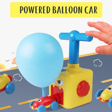 Kids Car Toys Children Aerodynamic Forces Inflatable Balloons Toy Car
