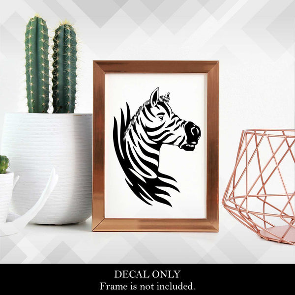 Zebra Head Decal