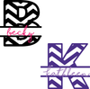 Chevron Initial Name Custom Monogram Decal - Solid Colors - Vinyl Decal for Tumblers, Yeti, RTICs and More