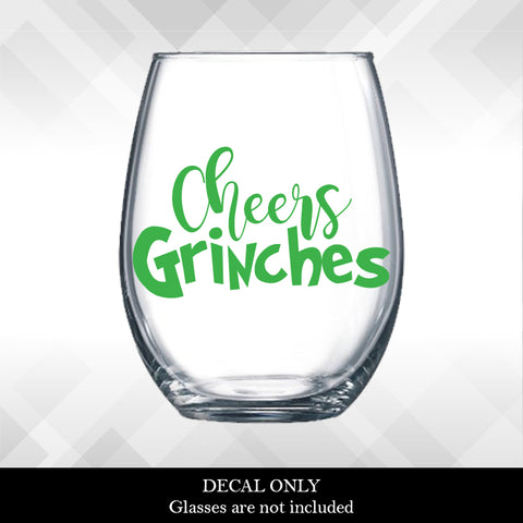 Cheers Grinches Decal | Amber Rockstar
