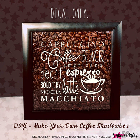 Coffee Lover Coffee Collage Vinyl Sticker Decal