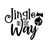 DIGITAL DOWNLOAD: Jingle all the Way - Christmas SVG file (new 2019 design) | Amber Rockstar