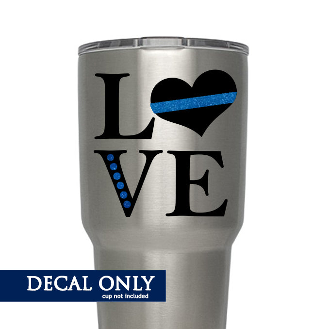 Police - Blue Line LOVE Decal