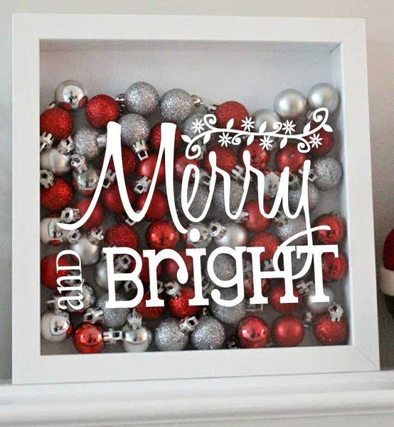 Merry and Bright Decal