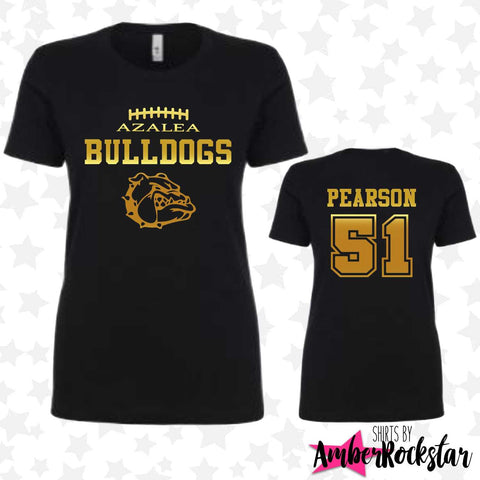Azalea Football Shirts - GOLD FOIL | Amber Rockstar
