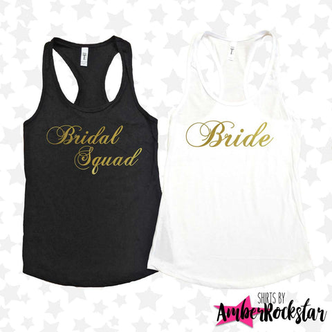 Bachelorette Party Shirts | Bridal Squad Tank Tops | Bridesmaid Proposal Shirts | Bride Squad Shirt | Bridesmaid Gift | Bridesmaid Tank | Amber Rockstar